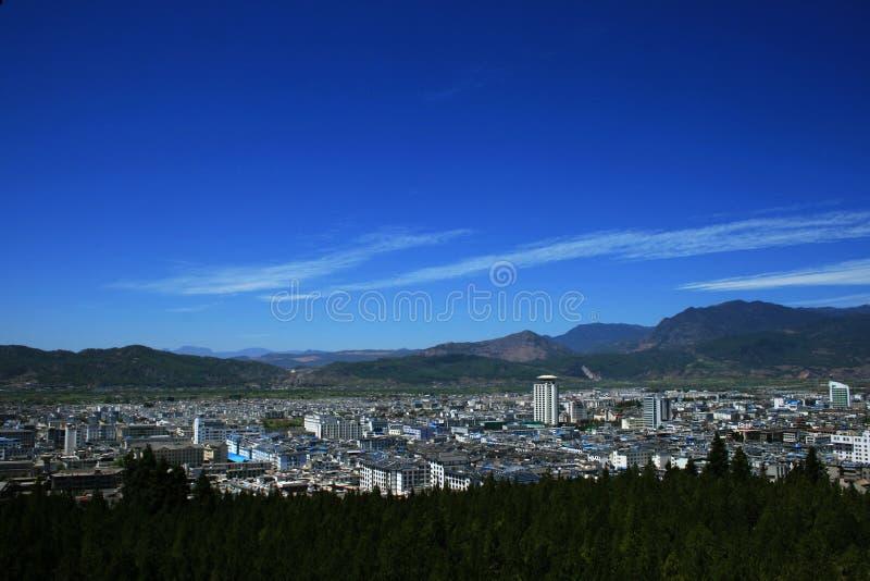 新城市的lijiang 免版税库存照片