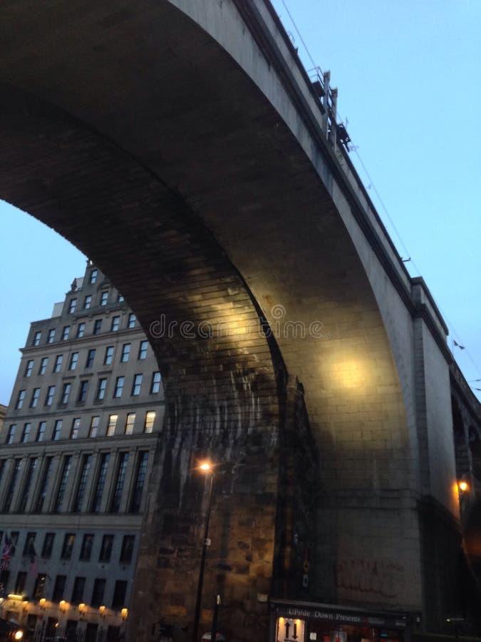 新堡高级铁路桥 免版税库存图片