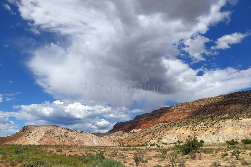 新墨西哥北沙漠mesa 免版税库存图片