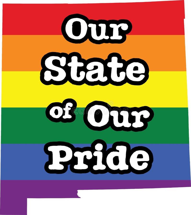 新墨西哥同性恋自豪日传染媒介状态标志 库存例证