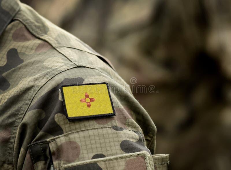 新墨西哥州军装国旗 美国 拼贴 免版税图库摄影