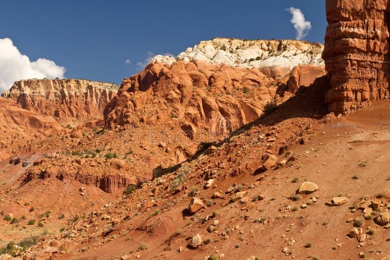 新墨西哥沙漠横向 库存照片