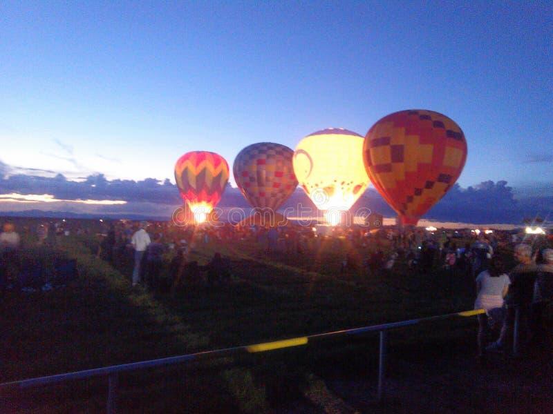 新墨西哥的热空气气球 库存图片