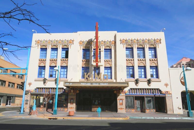 新墨西哥/亚伯科基:艺术装饰大厦-奇摩剧院 免版税库存图片