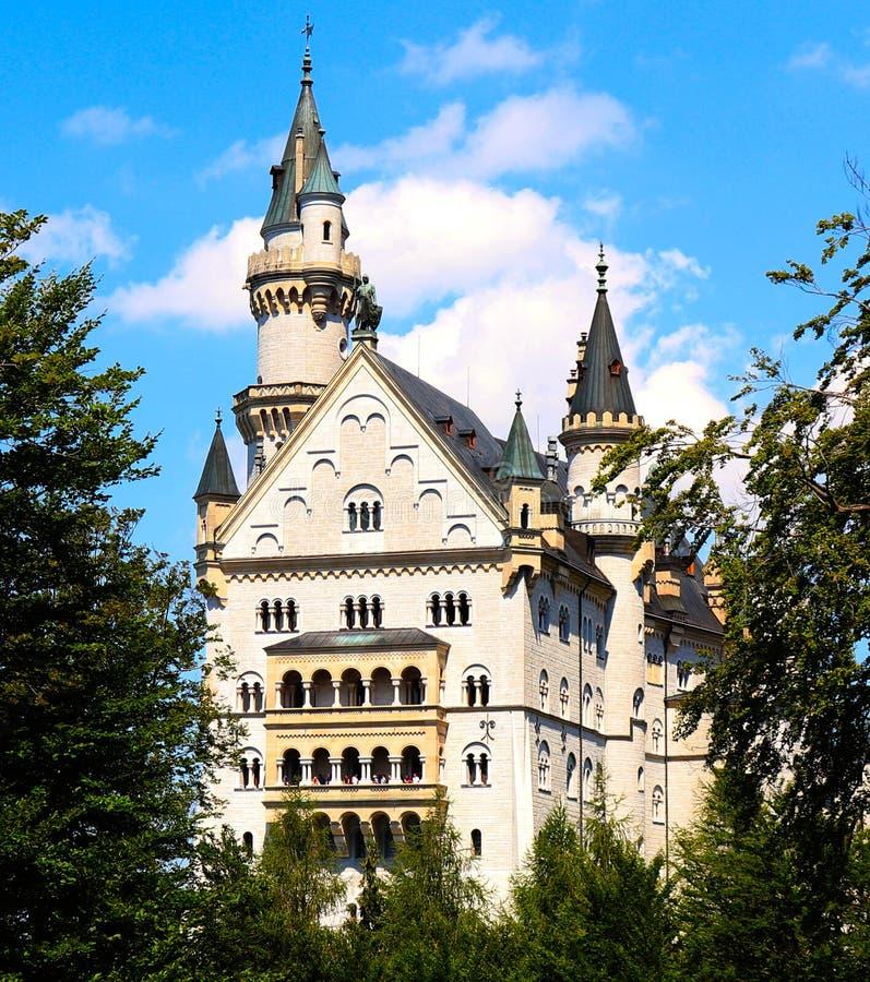 新天鹅堡城堡在巴伐利亚,德国 免版税库存图片