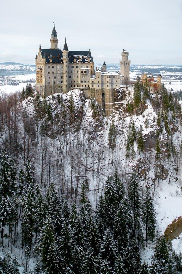 新天鹅堡城堡在慕尼黑 免版税库存照片