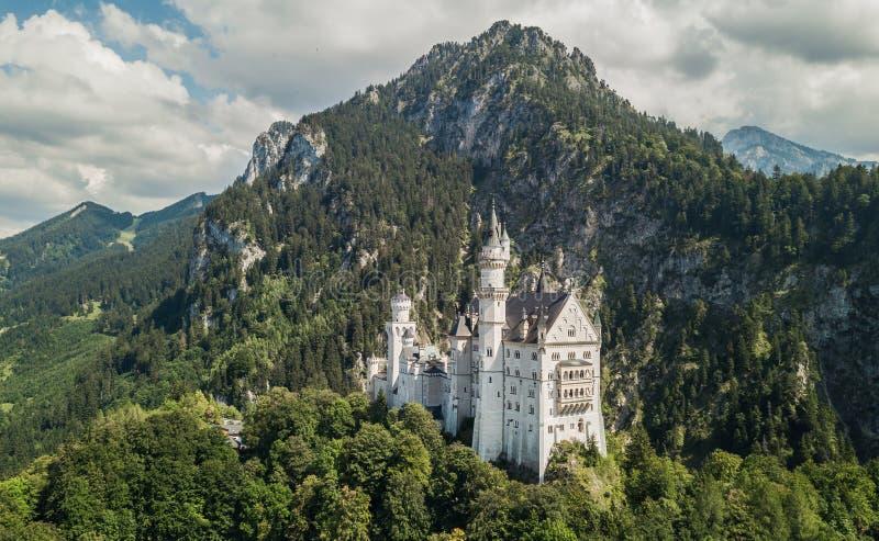 新天鹅堡城堡鸟瞰图  免版税库存图片