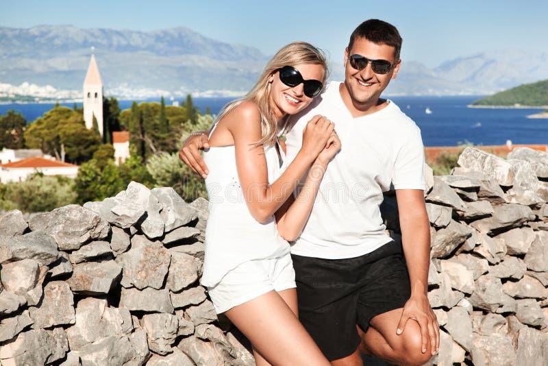 新夫妇的太阳镜 库存照片