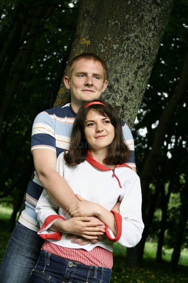 新夫妇的森林 免版税图库摄影
