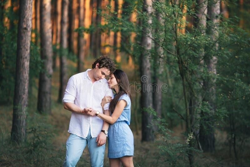 新夫妇的森林 图库摄影
