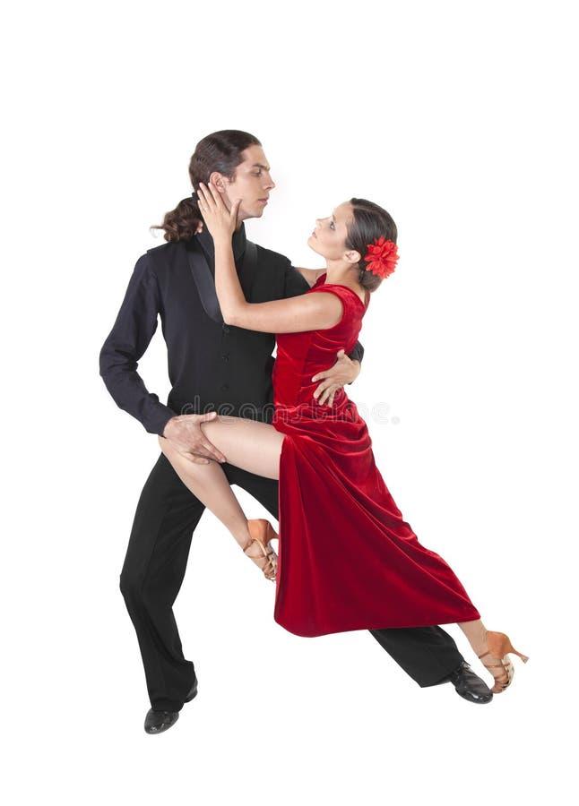 新夫妇跳舞探戈 免版税库存照片