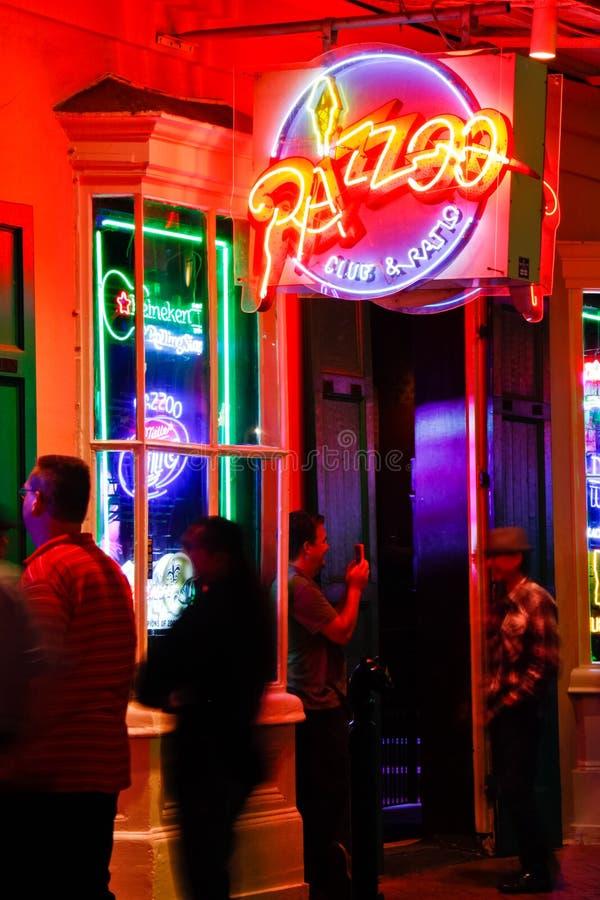 新奥尔良保守主义者街道Razzoo音乐俱乐部 库存图片