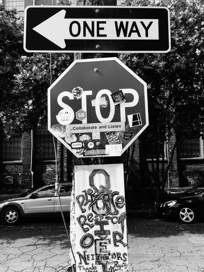 新奥尔良停车牌 免版税图库摄影