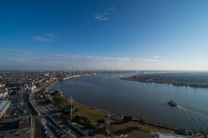 新奥尔良和密西西比河 库存照片