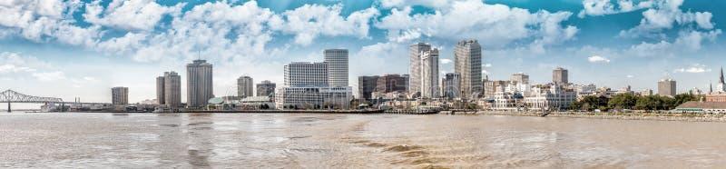新奥尔良地平线日落 库存照片