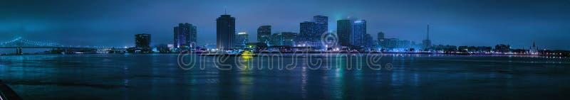 新奥尔良地平线晚上视图  免版税图库摄影
