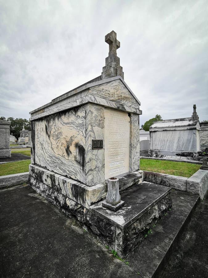 新奥尔良市公园附近梅塔里墓园墓葬 库存图片