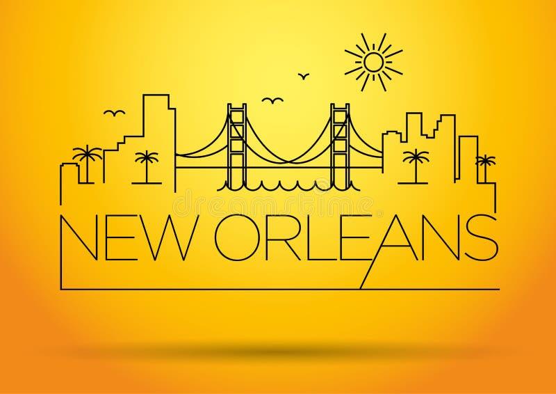 新奥尔良市线型剪影 皇族释放例证