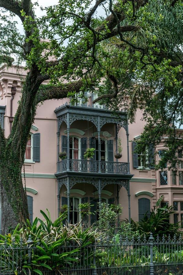 新奥尔良庭院区建筑学 免版税库存图片