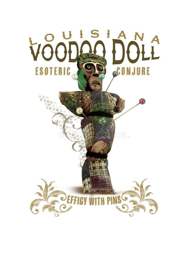 新奥尔良文化汇集伏都教玩偶 向量例证