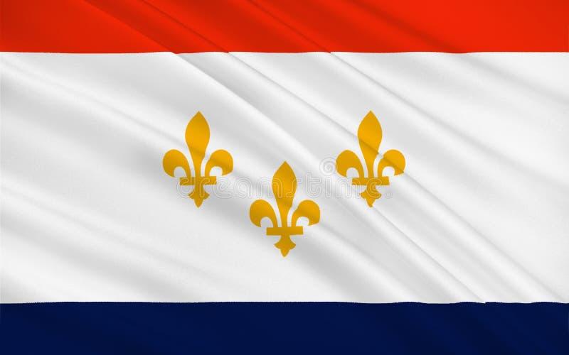 新奥尔良旗子在路易斯安那,美国 皇族释放例证