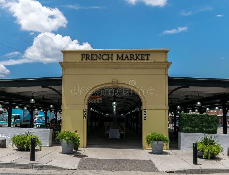 新奥尔良法国街区法国市场 免版税库存照片