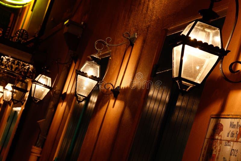 新奥尔良法国街区瓦斯灯 免版税库存照片