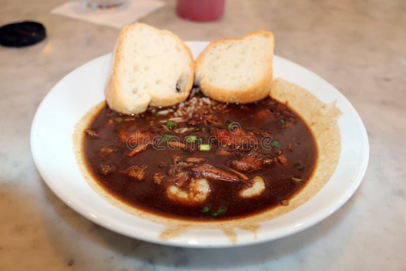 新奥尔良海鲜浓汤经典之作 免版税库存图片