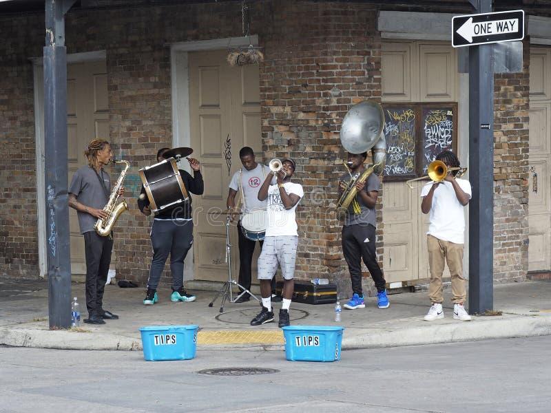 新奥尔良街带 免版税库存图片