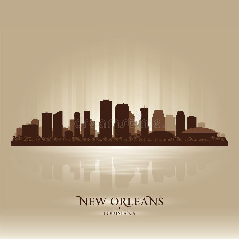 新奥尔良路易斯安那地平线城市剪影 向量例证