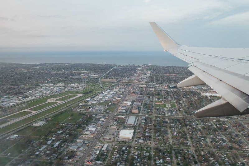 新奥尔良都市风景鸟瞰图  免版税库存图片