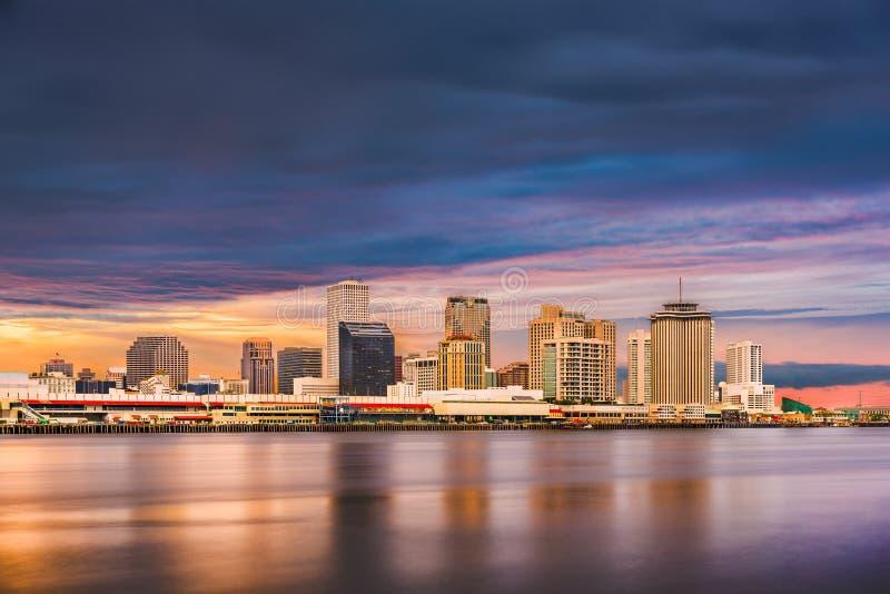新奥尔良,路易斯安那,美国街市市skylin 库存图片