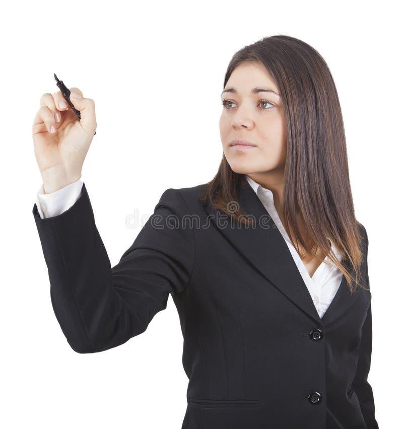 新女实业家文字 库存图片