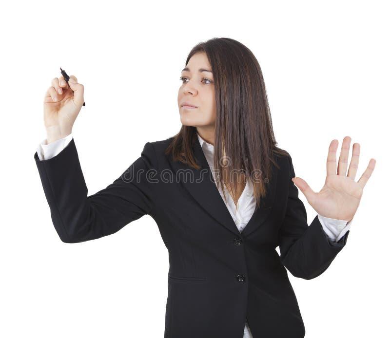 新女实业家文字 免版税图库摄影