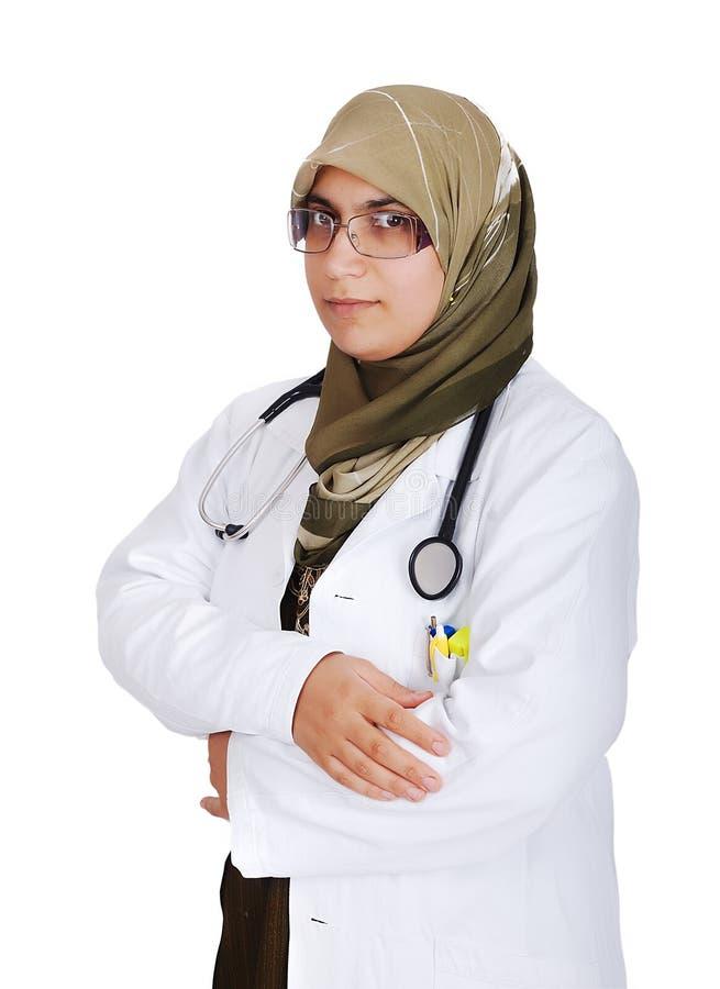 新女性回教医生 免版税库存照片