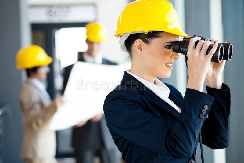 新女性建筑师 免版税库存照片