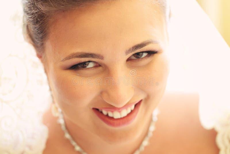 新娘为婚姻做准备 免版税库存照片