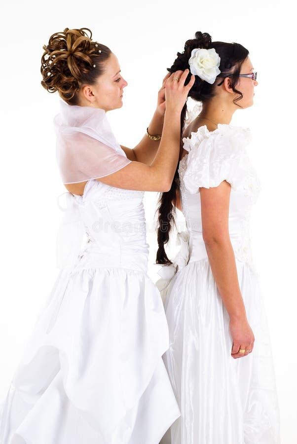 新娘二个年轻人 库存图片