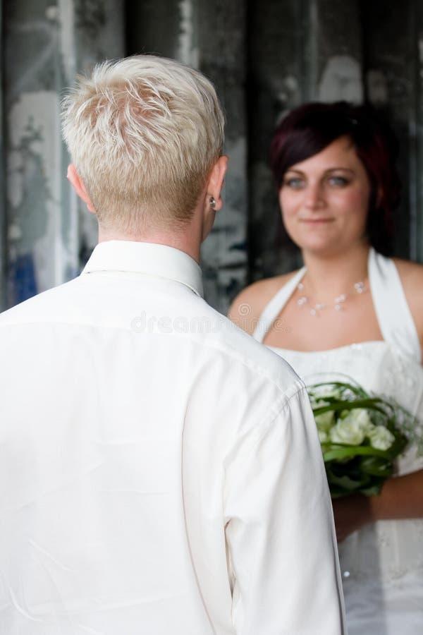 新娘他查找 免版税库存图片