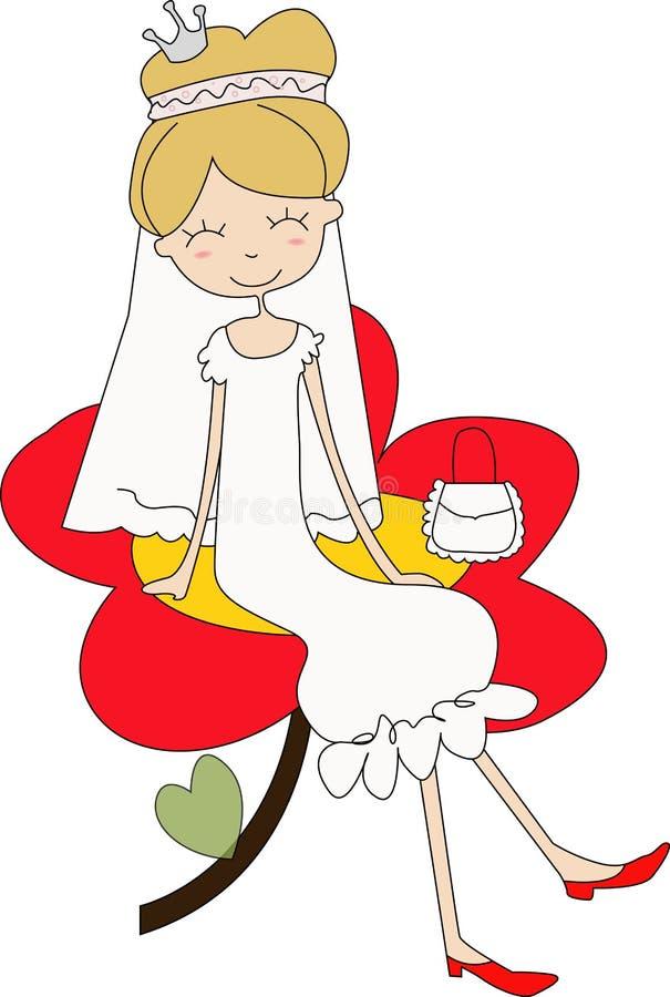 新娘公主 皇族释放例证