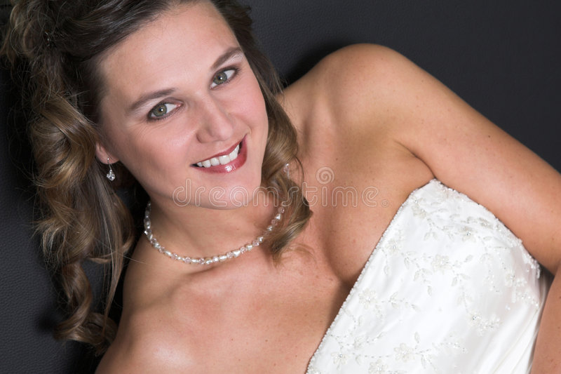 新娘发光 库存照片