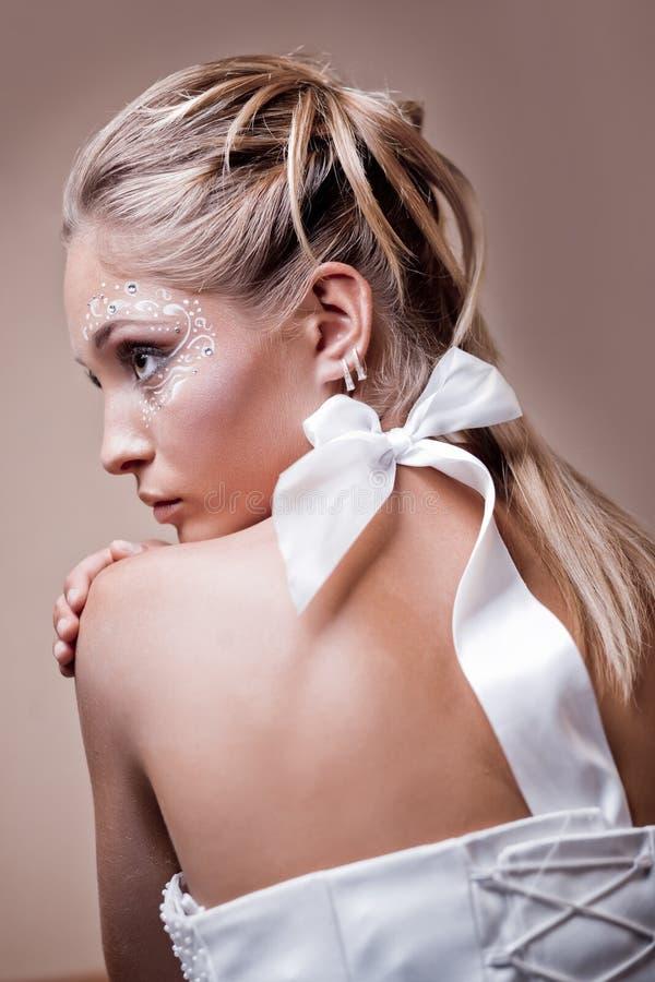 新娘发型 免版税图库摄影