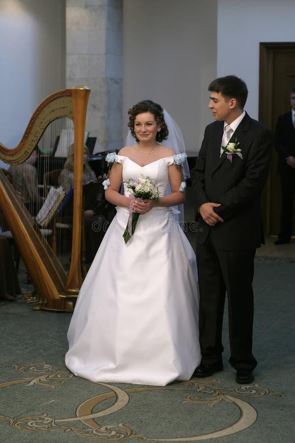 新娘同意 库存照片