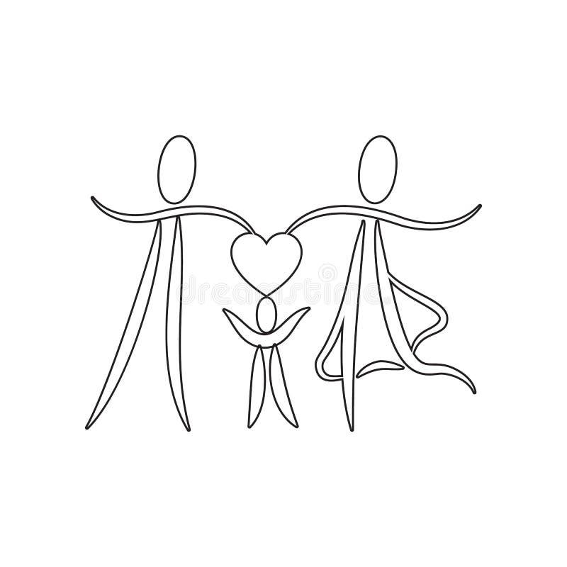新娘和新郎象 华伦泰\'s天的元素,婚姻为流动概念和网应用程序象 r 库存例证