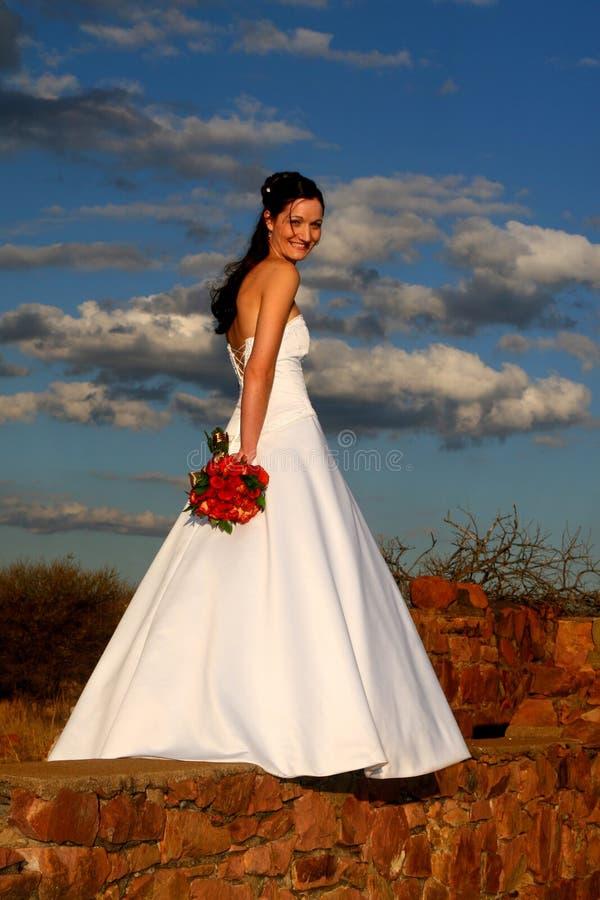 新娘天空 库存照片