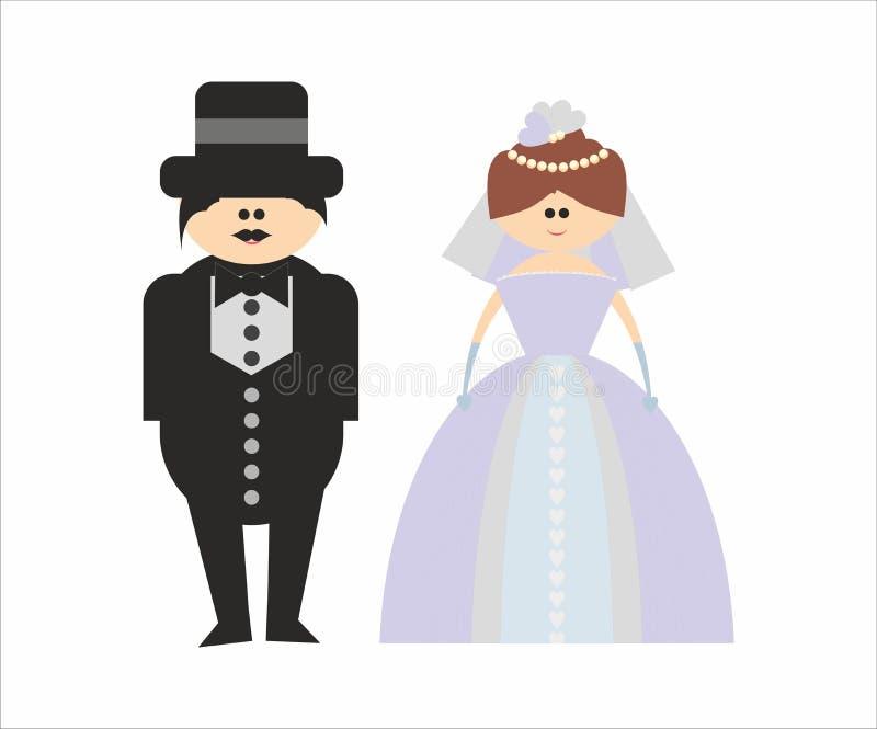 新娘夫妇新郎婚礼 皇族释放例证