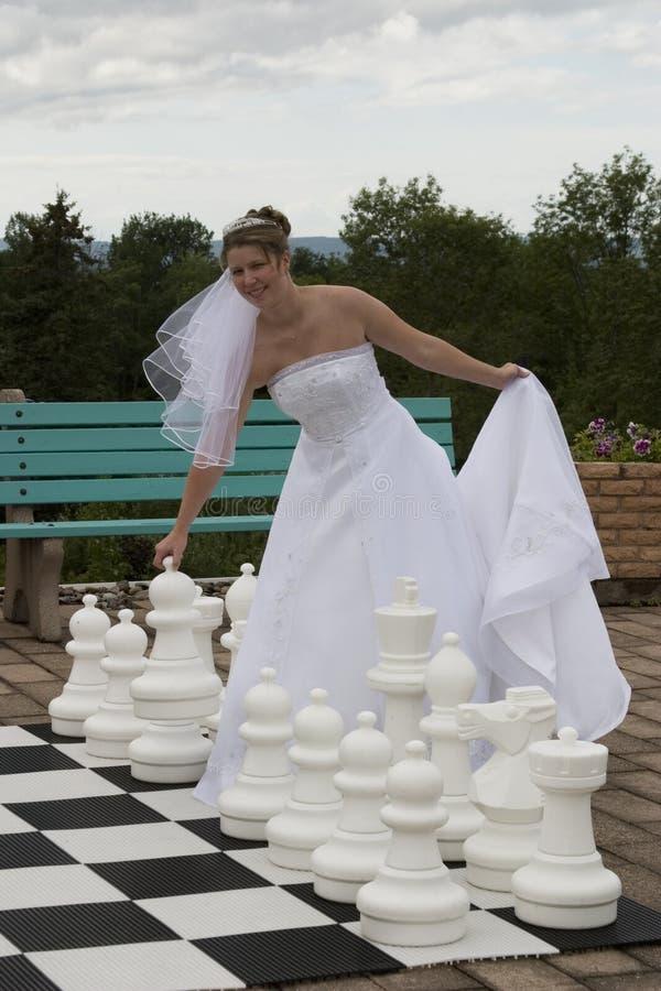 新娘她采取行动 库存图片