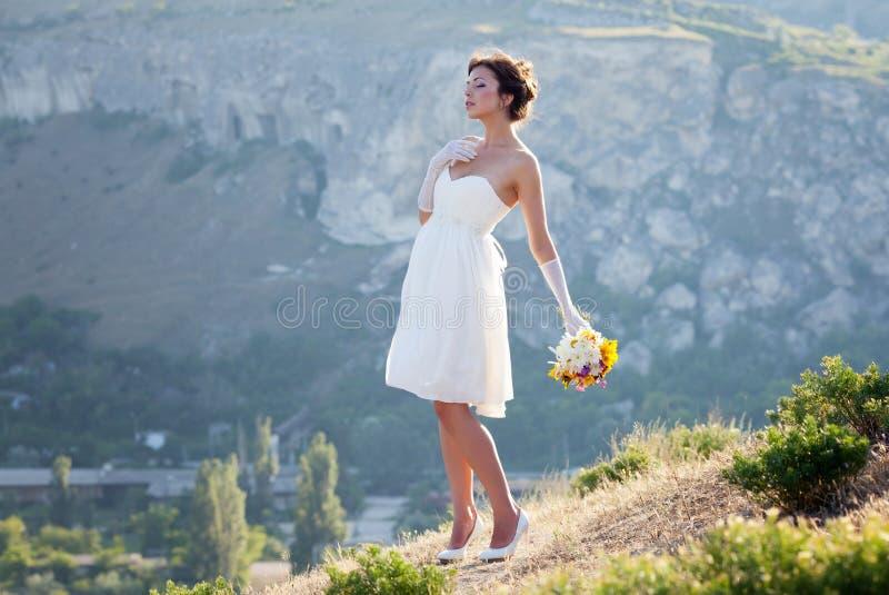Download 新娘室外纵向 库存照片. 图片 包括有 逗人喜爱, 设计, 表面, 头发, 高雅, brunhilda, 岩石 - 62530646