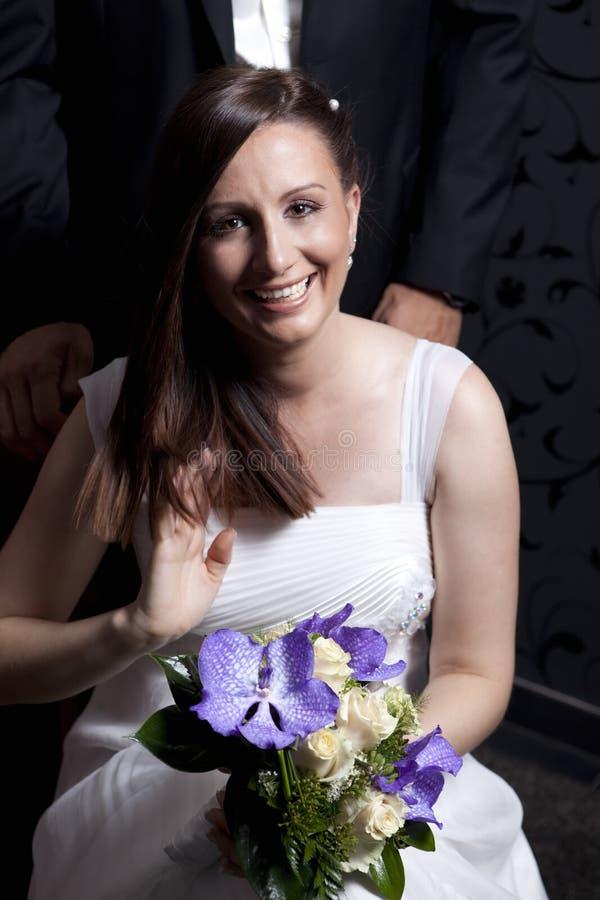 新娘开花年轻人 库存照片