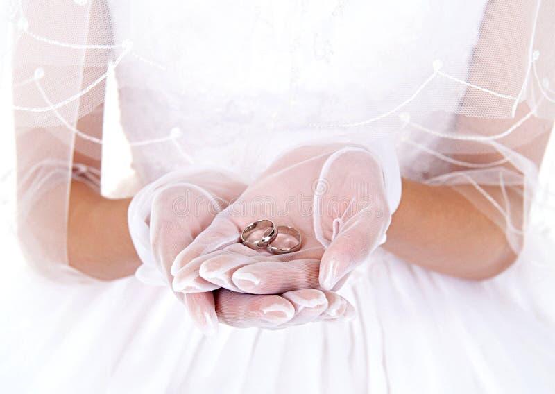 新娘戒指 免版税库存图片